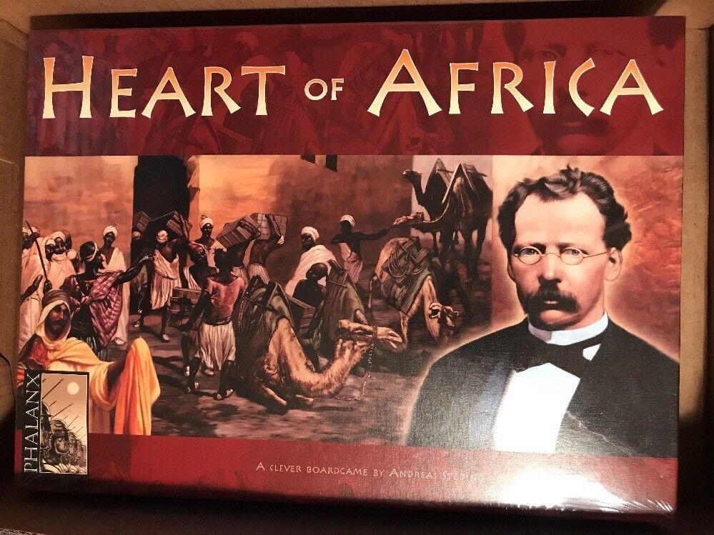 HEART OF AFRICA PHALANX BOARD GAME 2004 AGE 12+ 2-5 PLAYERS NEW SHRINK WRAPPED