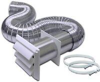 Lambro 318w 4 X 8' Complete Aluminum Flexible Dryer Vent Kit