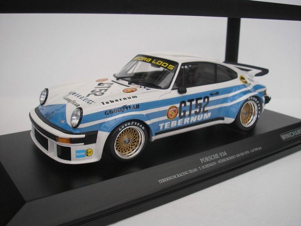 Porsche 934  52 Nürburgring 300km 1976 T.Schenken 1/18 Minichamps 155766452
