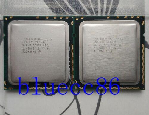 Matching pair(2)Intel Xeon E5645 Six Core 2.40GHz 12MB  LGA1366 CPU Processor