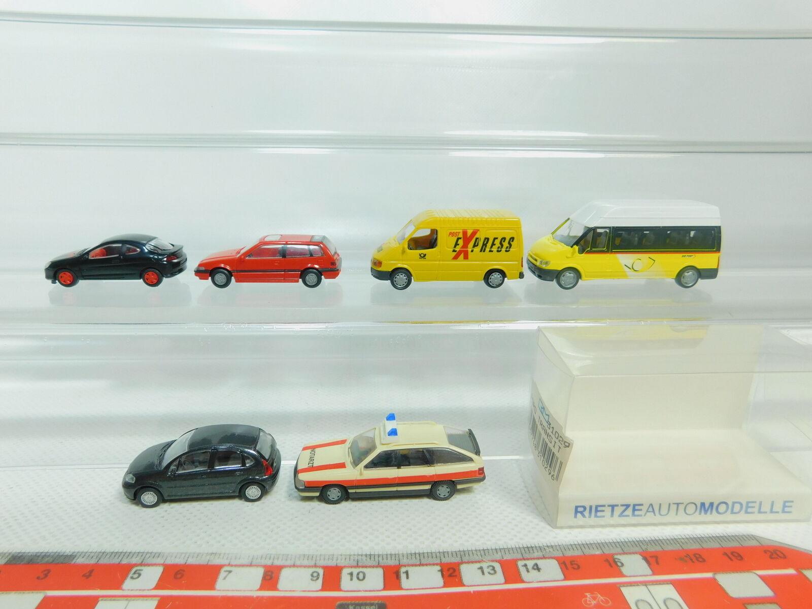 BO898-0,5 x Rietze H0   1 87 Model 31029 Mail-Bus Ford + Audi + Honda etc. ,VG