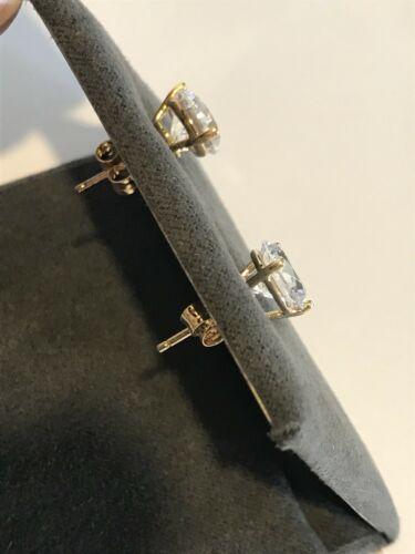 Nordstrom Precious Metal Plated 3 Ctw Earrings Sterling Silver 925 Gold Plate