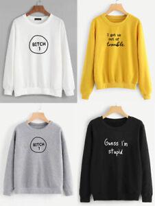 Unisex Spring//Fall Sweatshirts Funny Saying Long Sleeve Crewneck Pullover Leisur