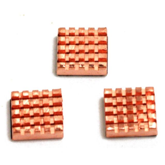 FOR Raspberry Pi Copper Cooling Heat Sinks 3 Pack K6B7