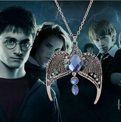 Harry Potter the Deathly Hallows Ravenclaw's Diadem Crown Pendant Necklace Chain