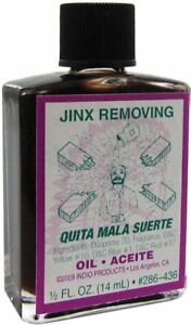 Details about JINX REMOVING Ritual Oil Spell Wicca PAGAN Witchcraft 1/2 OZ  remove bad luck