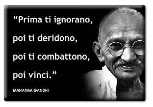 Magnete Frigo Fridge Calamita Aforismi Mahatma Gandhi Frasi