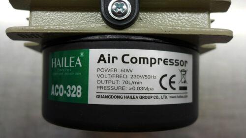 Hailea aco-328 estanque ventilación teichbelüfter oxígeno bomba con 107mm ausströmer