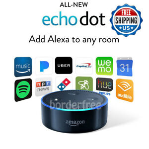 Amazon-Echo-Dot-2nd-Generation-BLACK-w-Alexa-Voice-Media-Device-Latest-Ver
