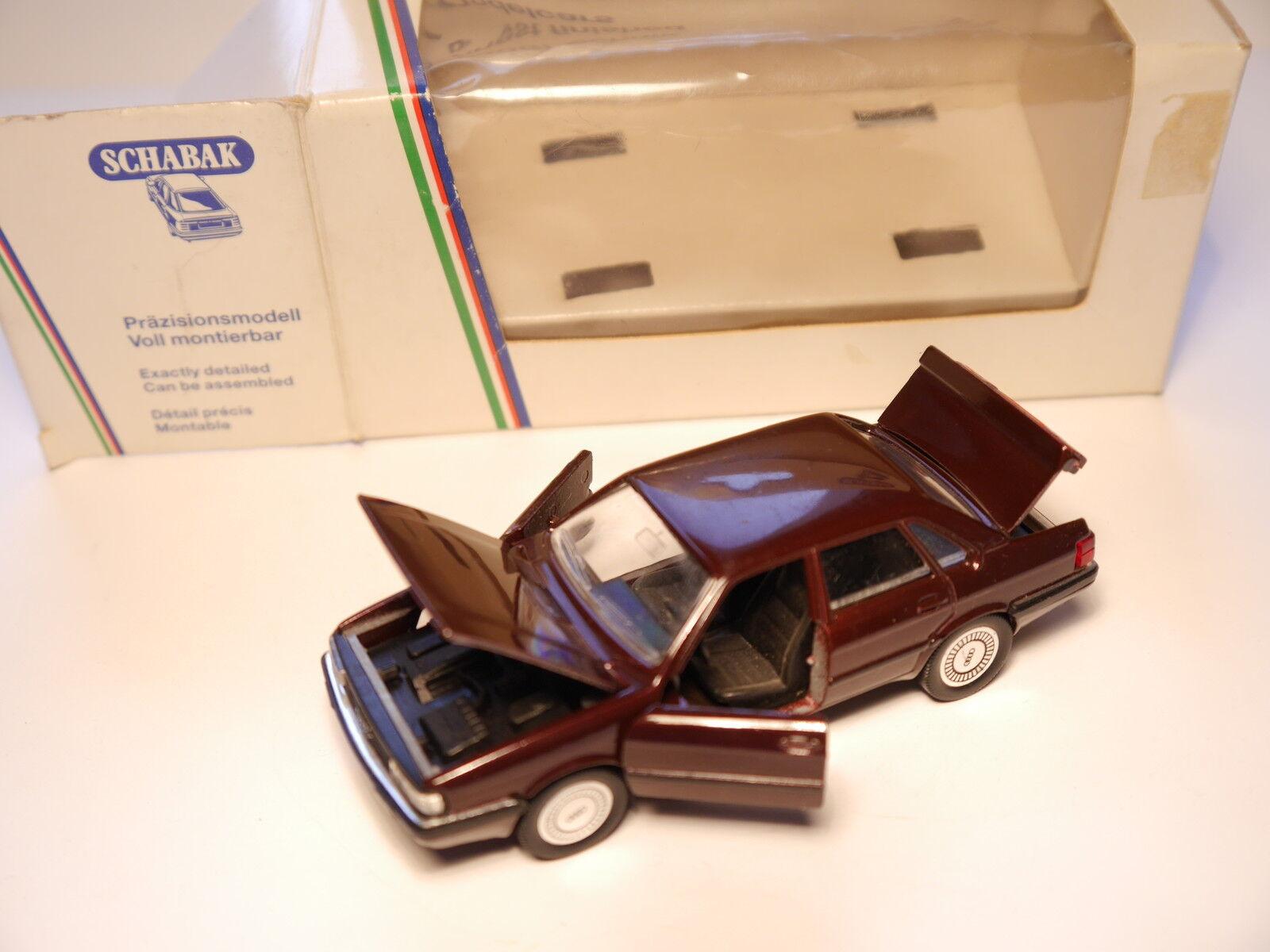 vendiendo bien en todo el mundo Audi 90 b2 81 85 Quattro en rojo-marrón rojo-marrón rojo-marrón rojo-marrón metalizado, Schabak en 1 43 Boxed   costo real
