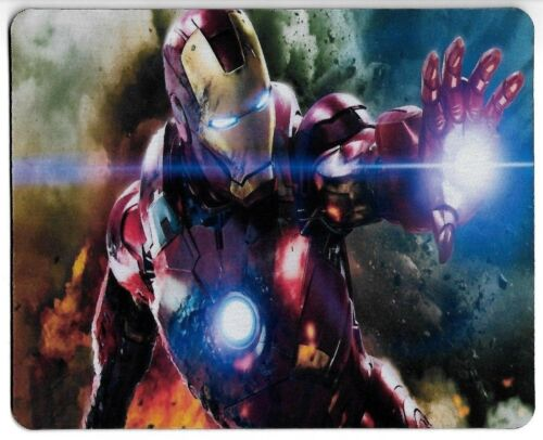 Marvel Iron Man repulsor beam Art Rubber antislip PC laptop Gaming mouse mat pad