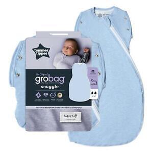 Tommee-Tippee-Grobag-Bebe-recien-nacido-Snuggle-de-dormir-bolsa-0-4m-2-5-Tog-azul-jaspeado