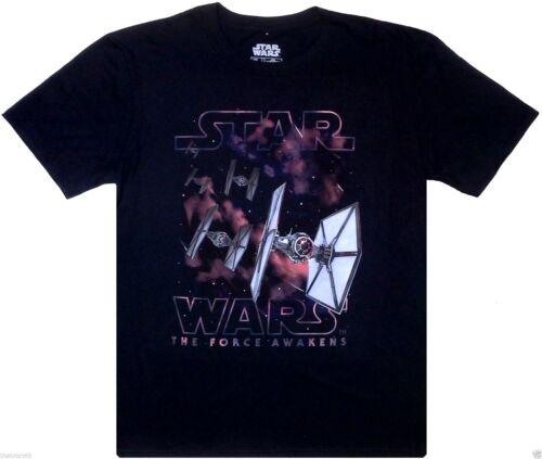 """S-2XL /""""Premier ordre TIE FIGHTER SQUAD/"""" TFA 100/% Noir T-shirt en coton STAR WARS"""