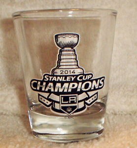 2014-STANLEY-CUP-champs-Champions-LA-LOS-ANGELES-KINGS-shot-GLASS