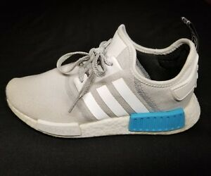 4c2aeb563d23 Adidas NMD R1 Runner Nomad White Bright-Cyan-Blue S31511 Sz 8.5 ...