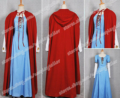 Red Riding Hood Valerie Cosplay Costume Only Red Cool Cape High Quality To Wear