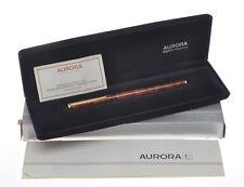 Aurora Hastil stilo turtle brown lacquer fountain pen new old stock in box