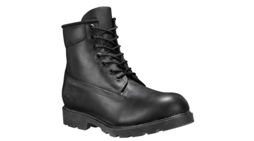 black leather 6 inch timberland boots