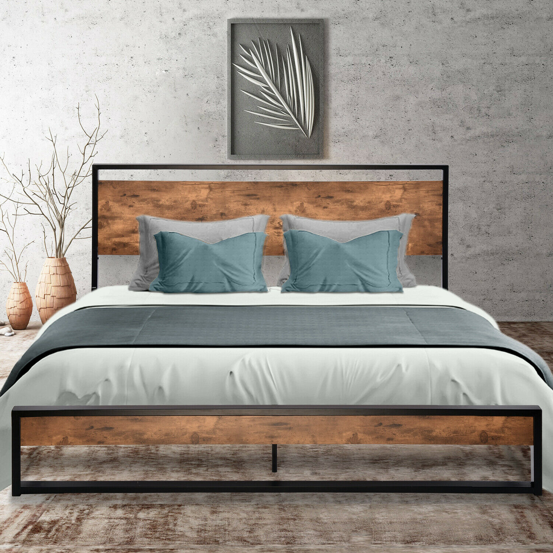 Full Twin Size Metal Platform Bed Frame Tiendamia Com