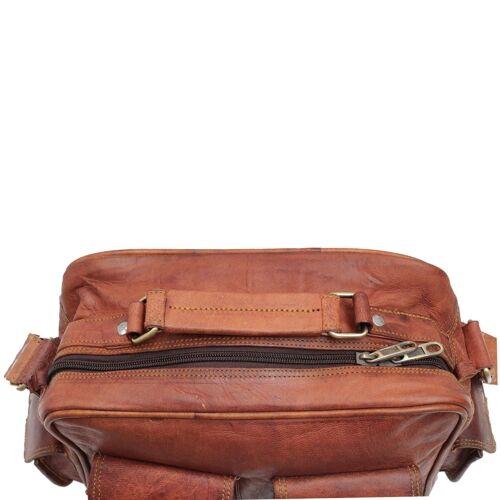 All Men/'s RealVintage Leather Messenger Business Laptop Briefcase Satchel Bag