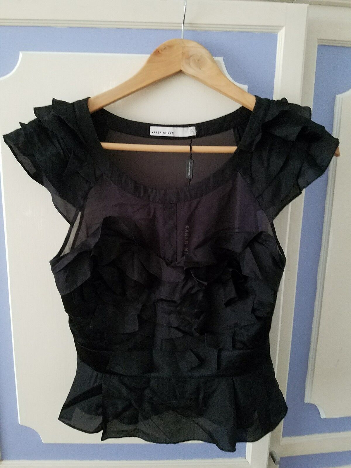 Stunning Karen Milen 100% Silk Top, Größe UK10 - brand new with tags, RRP
