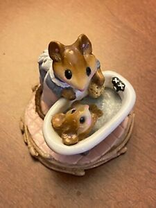 """Wee Forest Folk WFF - """"Mom and Squeaky Clean""""  M-60, M60 Retired 1981 MINT"""