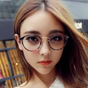 10bd34079a3 Women Men Vintage Round Clear Lens Glasses Nerd Geek Eyeglass ...