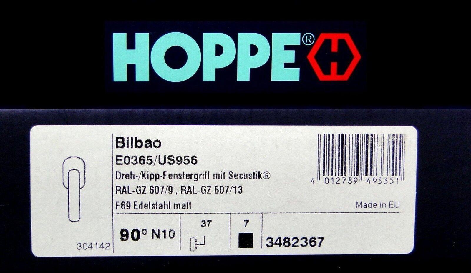 2x Edelstahl Fenstergriffe HOPPE BILBAO E0365 E0365 E0365 US956 Secustik® Stift 7x37mm | Verschiedene Waren  0a5bf8