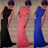 UK Sexy Womens Sleeveless Cocktail Party Prom Ball Dress Formal Evening Gown