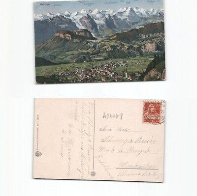 (b91464) Ansichtskarte Meiringen 1928 Nach Wiesbaden