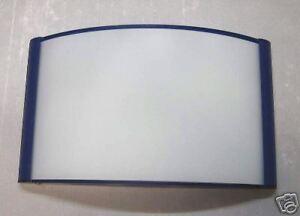 Plafoniere Vetro Blu : Plafoniera con lastra vetro e listelli blu media ebay