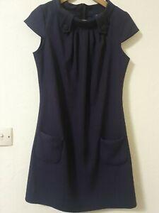BNWT-Armario-Purpura-A-Rayas-Vestido-Tunica-Inteligente-cuello-alto-talla-14