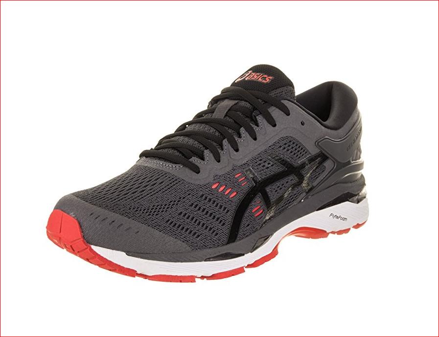 ASICS Men's Gel-Kayano 24 (2E) Running Shoe DARK GREY/BLACK/FIERY RED