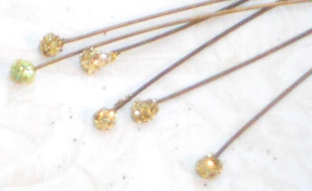Head Pins Stems Stem Ball Headpins Stamens Genuine Wire Sparkle Wand Unique