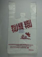 Qty 50 Thank You T Shirt Bags Plastic 115 X 625 X 21 Retail Shopping