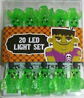 Halloween Green Owl Led String Light Set 8.5' L