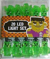 Halloween Green Owl Led String Light Set 8.5' L