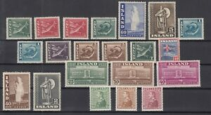 E3110-ICELAND-1937-1947-MINT-MH-SEMI-MODERN-LOT-CV-225