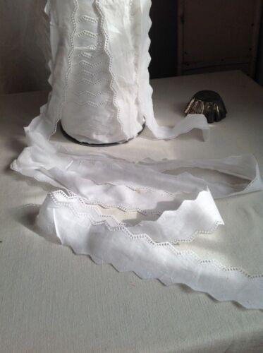 Vintage Lace White Shelf Edging Trim Cotton Tape Vintage Wedding /& Dolls 2m