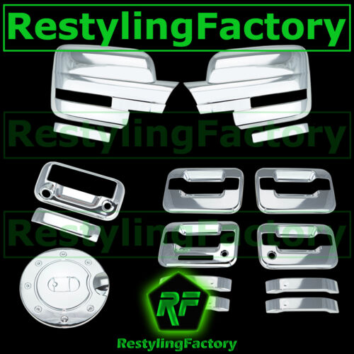 09-14 Ford F150 Chrome Mirror+4 Door Handle+KYP+PSG KH+Tailgate Camera+GAS Cover