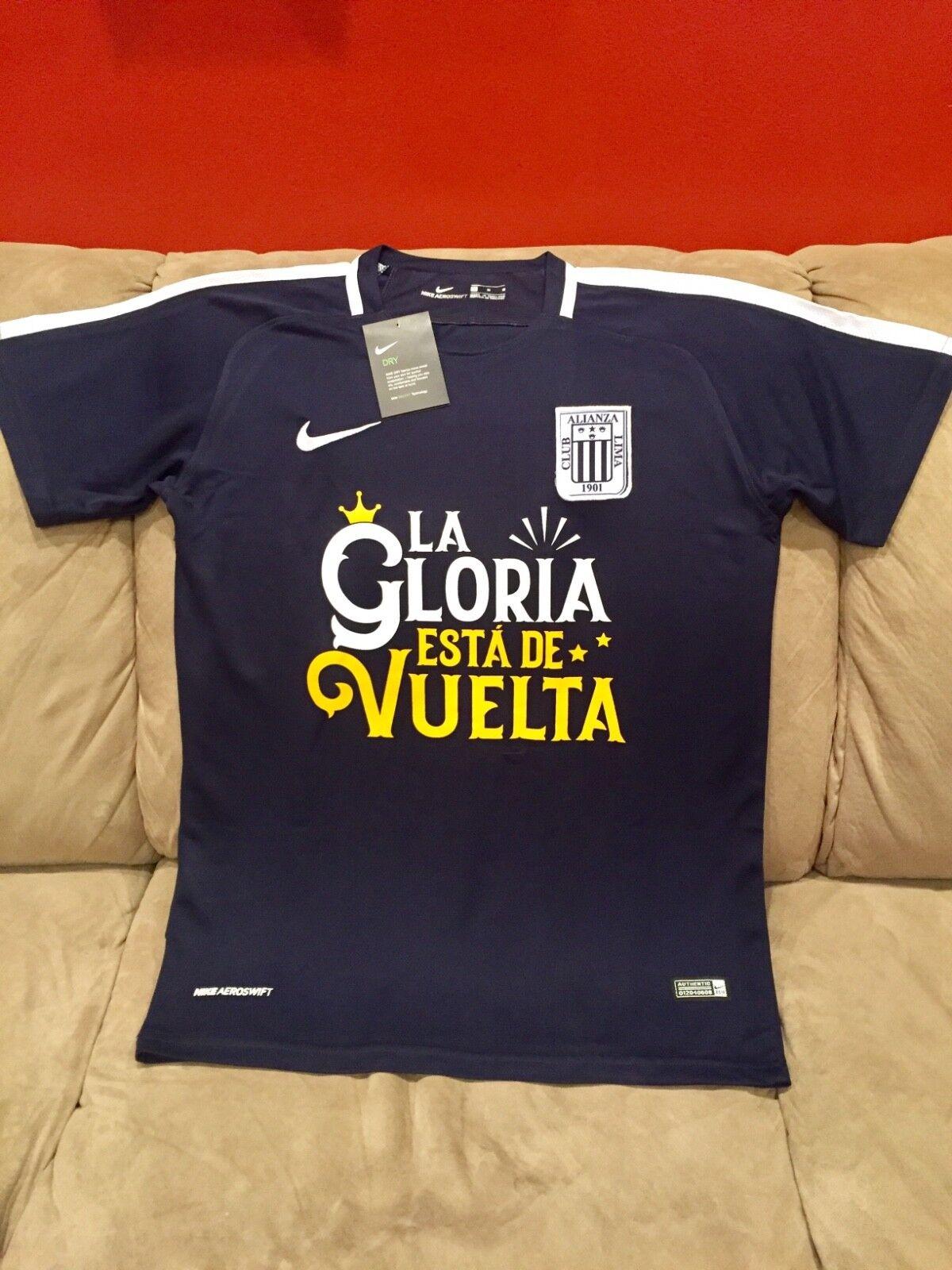 New Club Alianza Lima La Gloria Esta De Vuelta Soccer Shirt Jersey Champion RARE