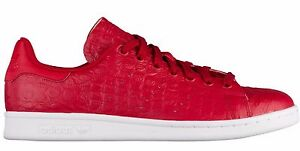 Image is loading NEW-adidas-Originals-STAN-SMITH-SNAKESKIN-Pattern-Red- a094f2633