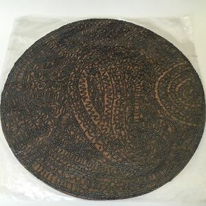 Kim Seybert Brown Copper Beaded Placemat Or Centerpiece