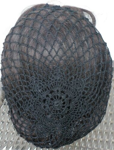 "SNOOD Hand Crocheted /""Lone star/"" HAIR NET your choice black white beige /& more"