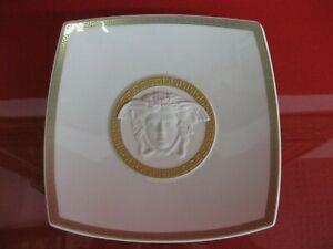 Rosenthal Versace Gorgona Medusa Schale 22 cm Porzellan Meandre Gold Weiß