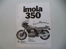 advertising Pubblicità 1982 MOTO GUZZI IMOLA 350 MENANI
