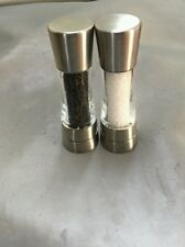 NEW Cole and Mason Derwent model salt & pepper mill brushed stainless steel