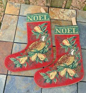 foto de Vintage PARTRIDGE in PEAR TREE Noel Christmas Stockings Tapestry ...