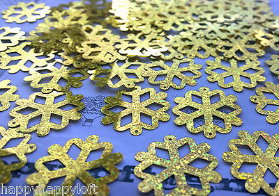 Christmas Table Confetti Xmas Party Gold Snowflake Decorations Sprinkles Large