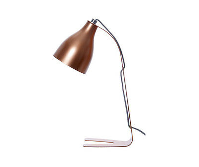 Leitmotiv Barefoot Table lamp in Copper Contemporary Modern Desk lamp